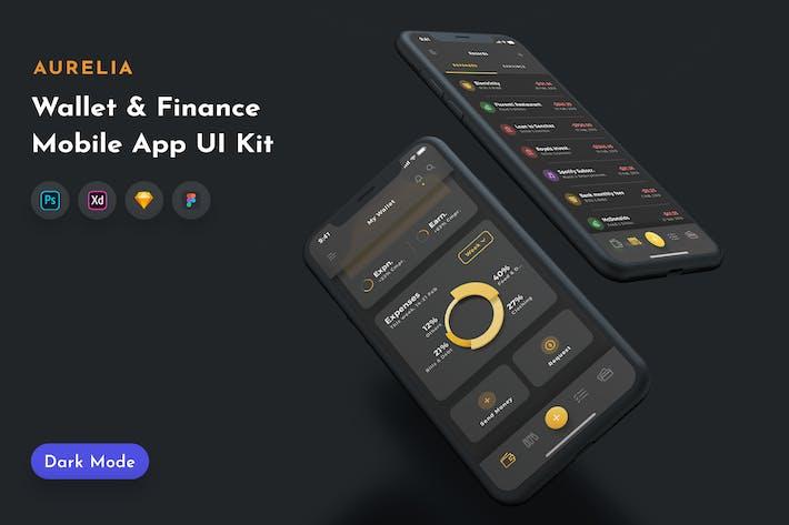 Thumbnail for Aurelia Wallet UI Kit