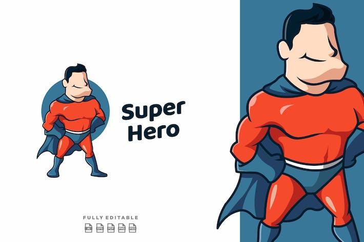 Superhero Cartoon Mascot Logo