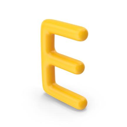 Letter E Orange