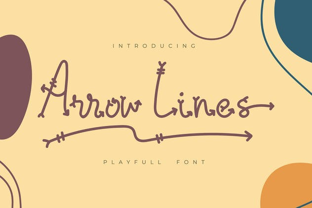 Arrow Lines | Playfull Font