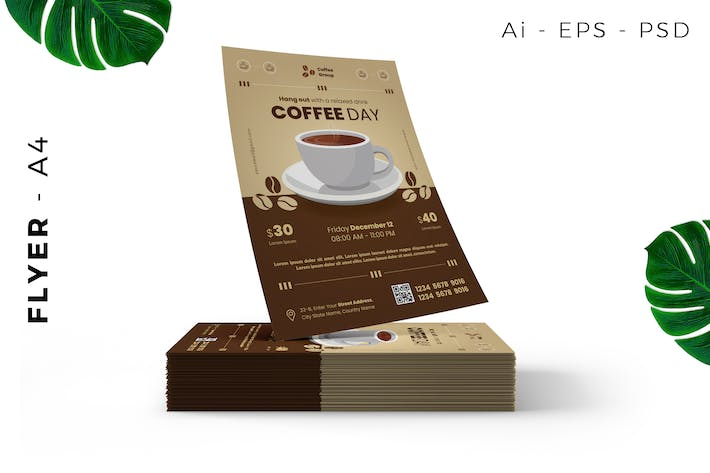 Thumbnail for Cafe / Coffee Event Flyer Design
