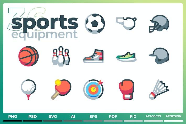 Sports Equipment Icons - Iconez