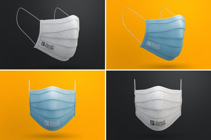 Thumbnail for Medical Face Mask Mockup Templates