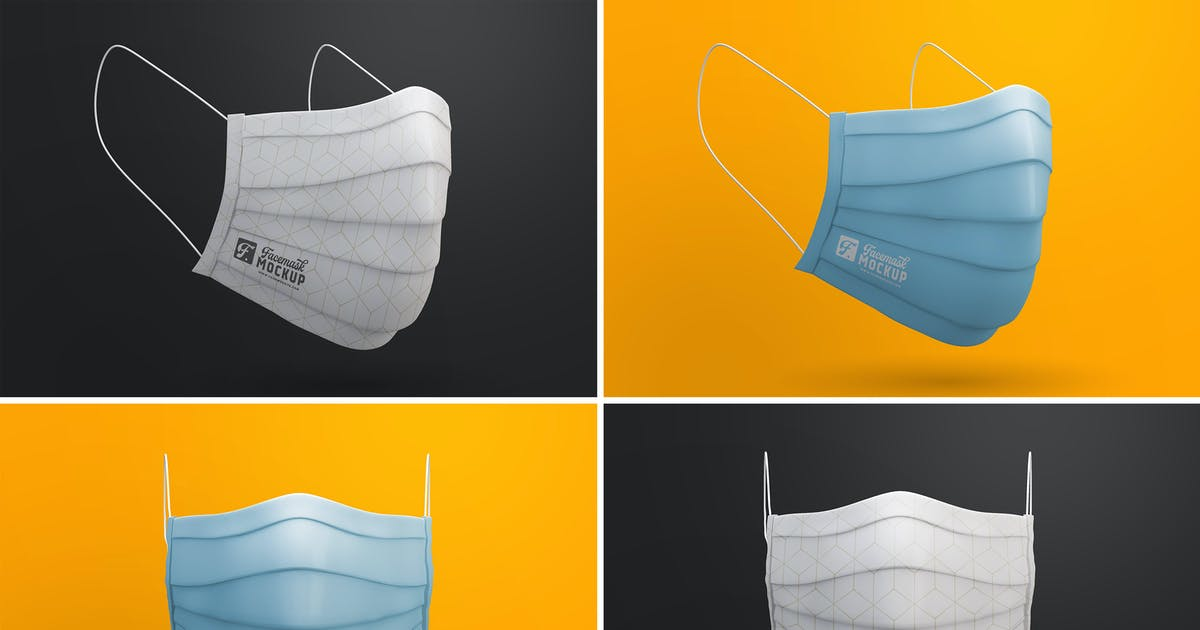 Download Medical Face Mask Mockup Templates by andrewtimothy