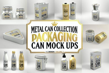 Vol. 3 Metal Can Mockup Collection
