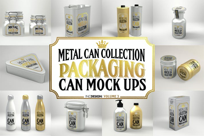 Thumbnail for Vol. 3 Metal Can Mockup Collection