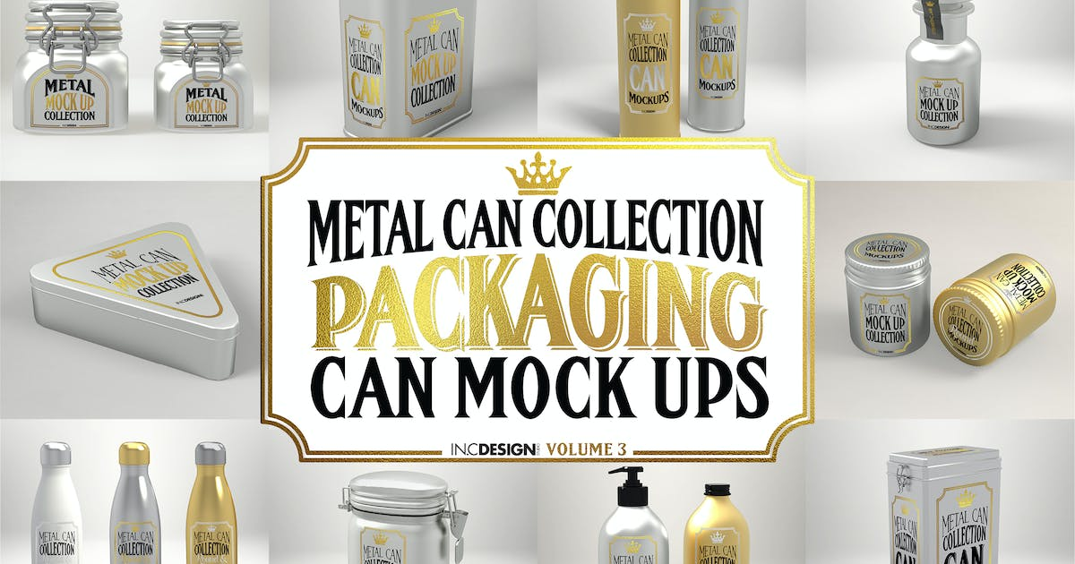 Download Vol. 3 Metal Can Mockup Collection by ina717