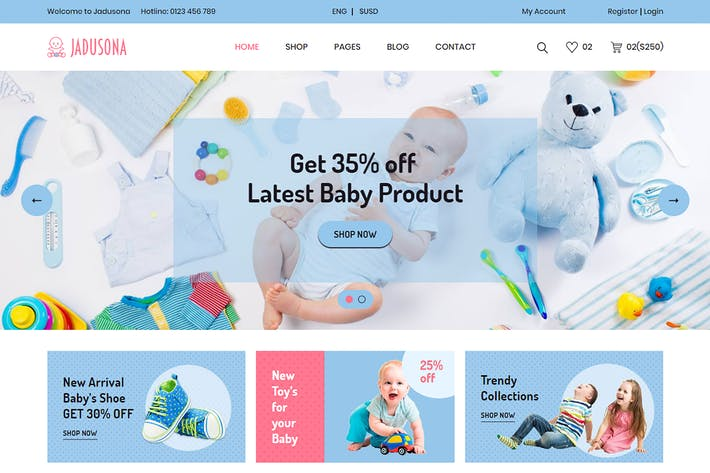 Thumbnail for Jadusona - eCommerce Baby Shop Bootstrap4 Template