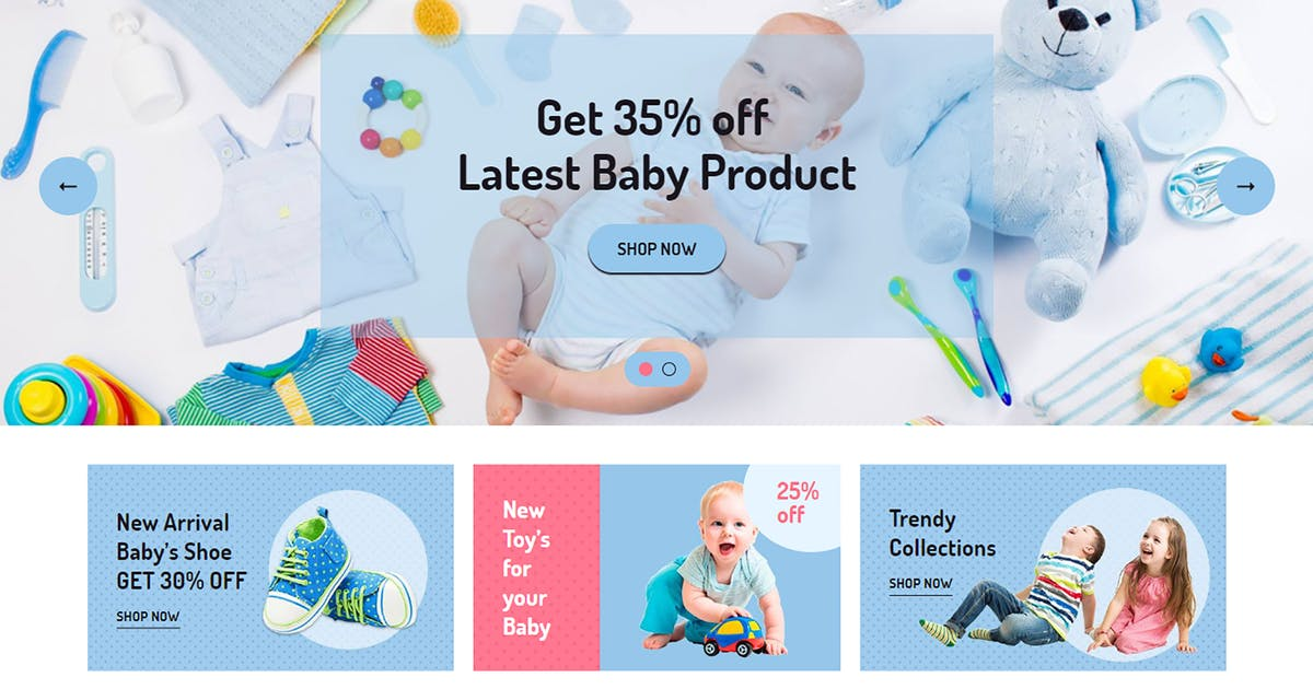 Download Jadusona - eCommerce Baby Shop Bootstrap4 Template by codecarnival