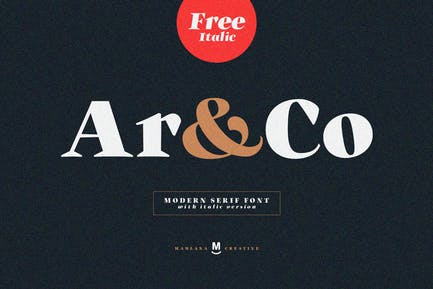 Ar and Co Serif Font