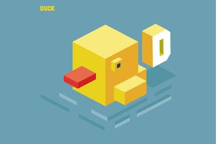 D für Ente. Tier-Alphabet