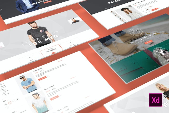 Thumbnail for Canifa - eCommerce Adobe XD Templates