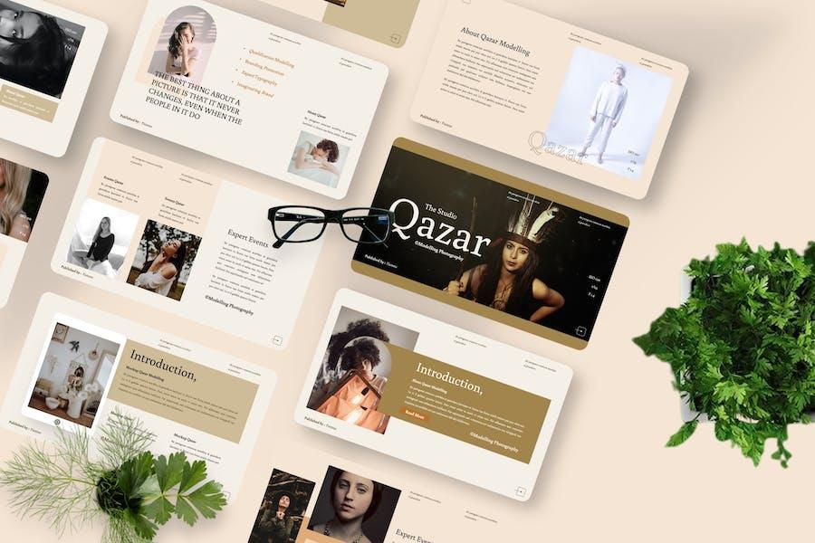 Qazar - Modelling Keynote Template