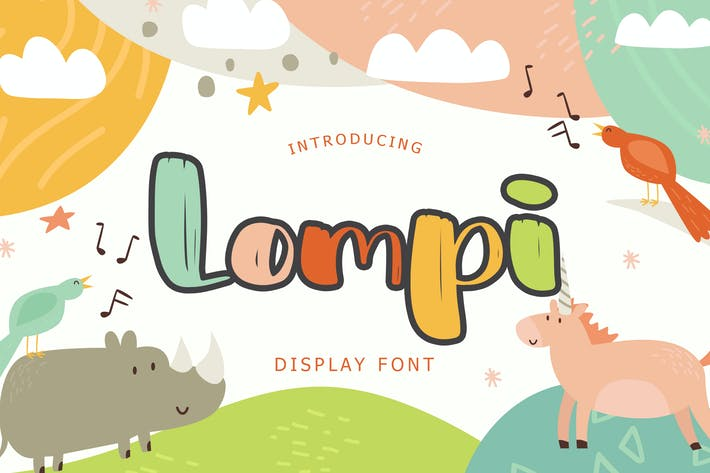Thumbnail for Lompi Bold Brush Display Font