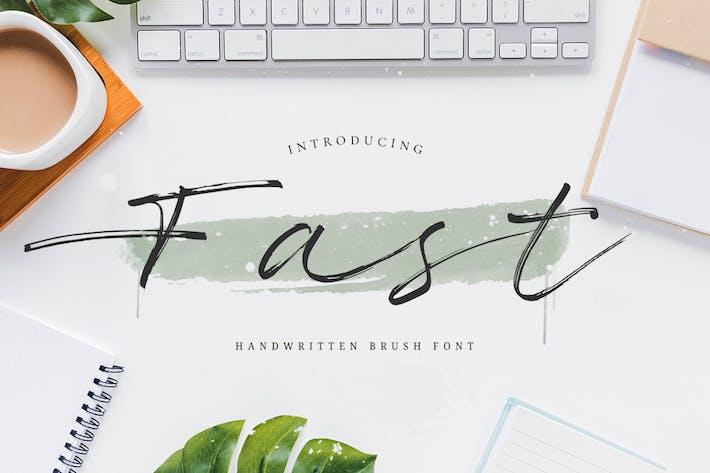 Thumbnail for Fast - Handwritten Brush Font