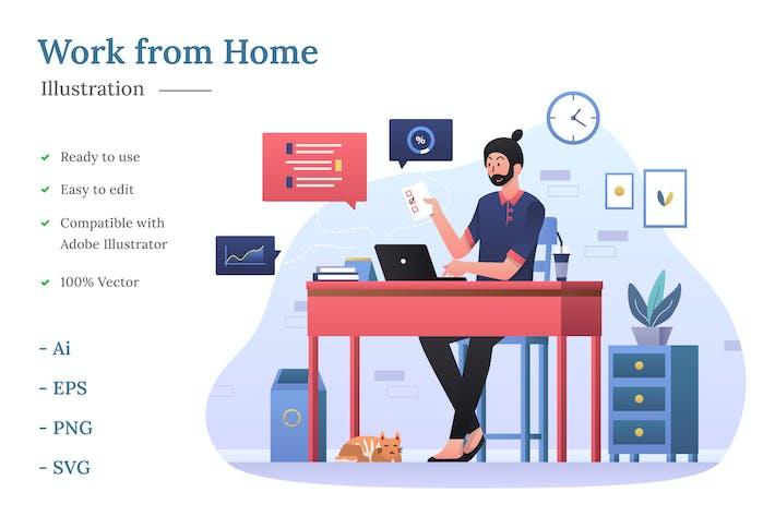 Thumbnail for Arbeit von zu Hause Illustration