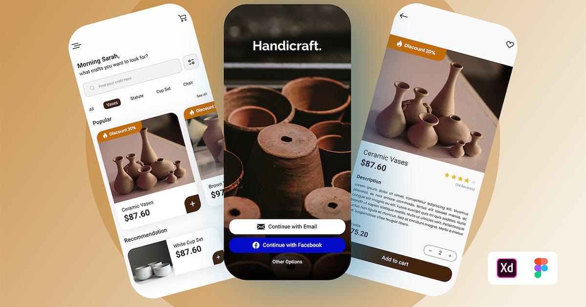 Download Handicraft Online Store UI Kit by TempCraft