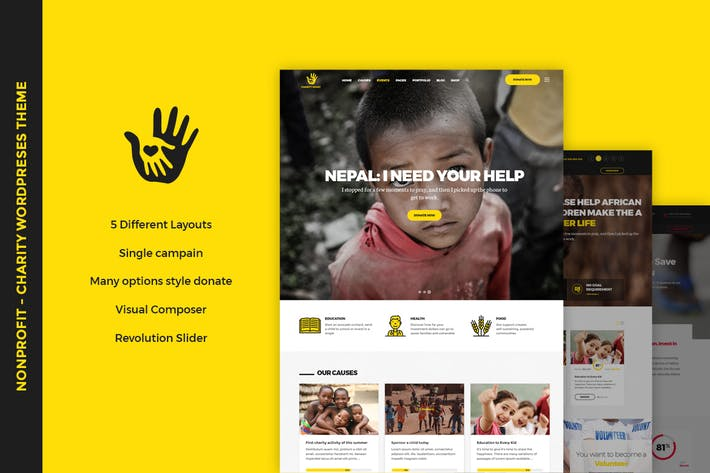Thumbnail for CharityHeart - Nonprofit WordPress Theme
