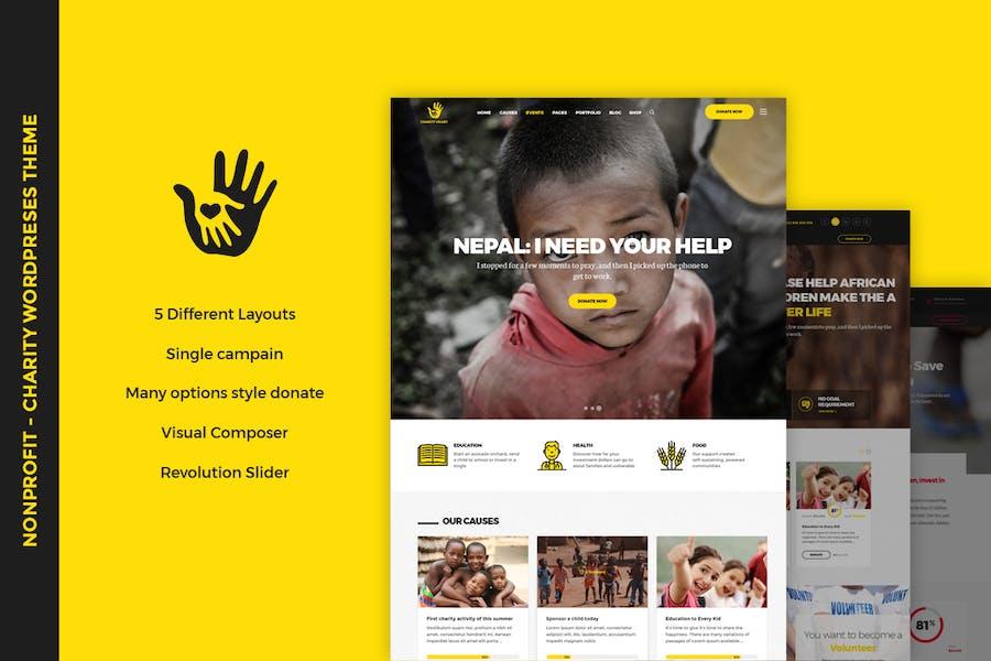CharityHeart - Nonprofit WordPress Theme