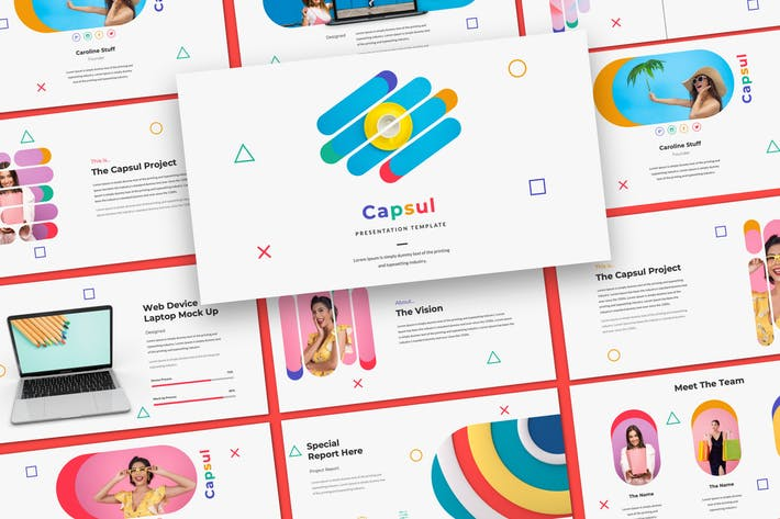 Thumbnail for Capsul Creative Google Slide Presentation Template