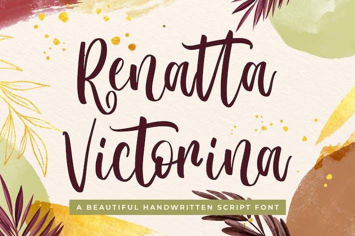 Thumbnail for Renatta Victorina - Modern Script Font