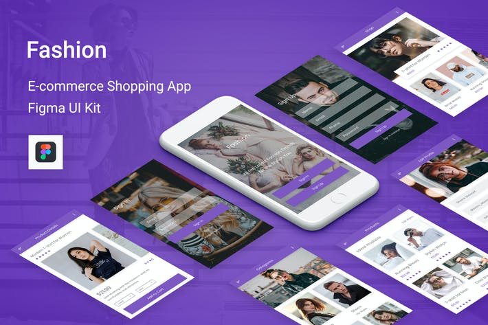 Thumbnail for Fashion - Ecommerce Shopping App for Figma