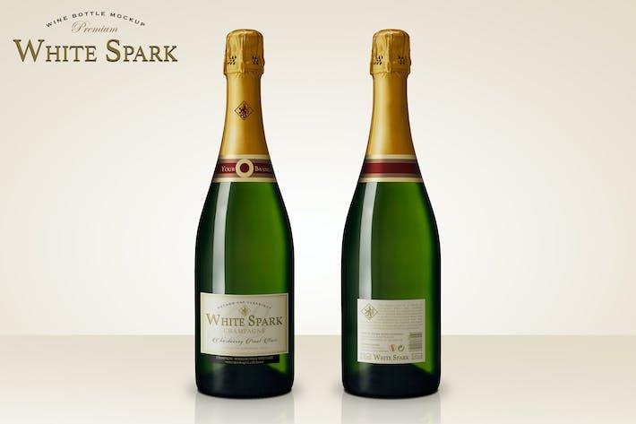 Thumbnail for Maquette de bouteille de champagne Premium