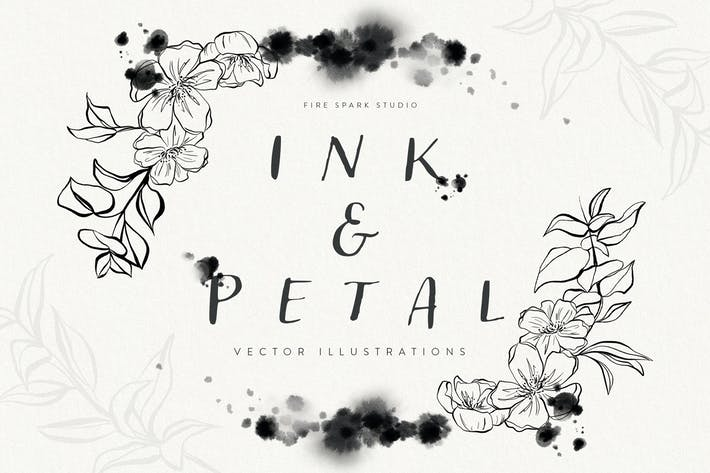 Ink and Petal Floral Vector Illustrations