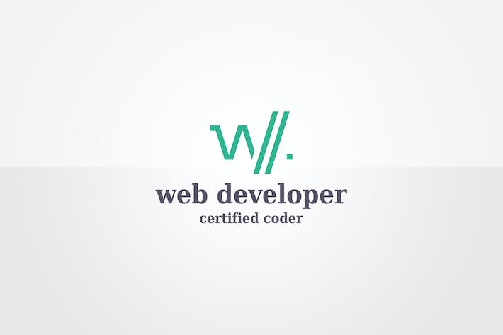 Thumbnail for Web Developer Logo Template