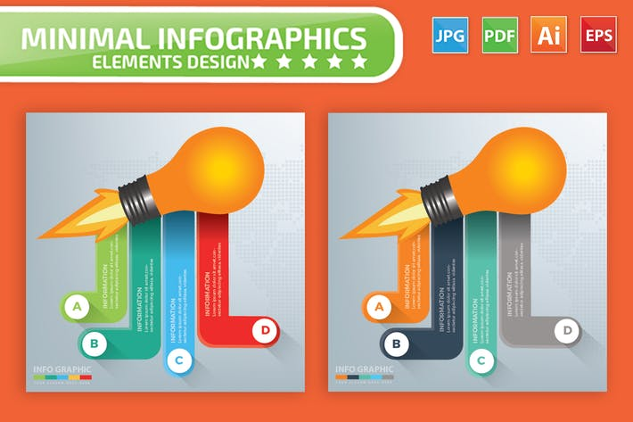 Thumbnail for Light bulb Infographics Design