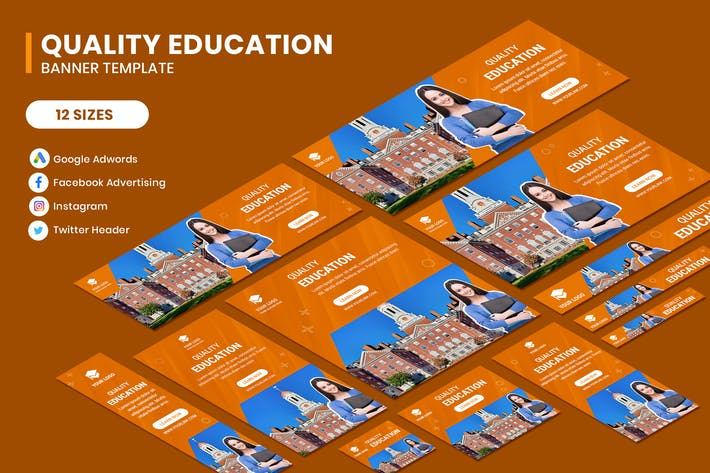 Thumbnail for Quality Education Google Adwords Banner Template
