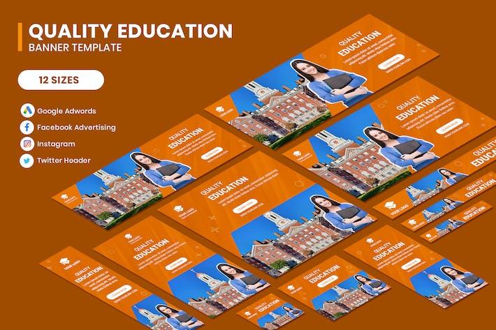 Thumbnail for Qualität Bildung Google Adwords Banner Vorlage