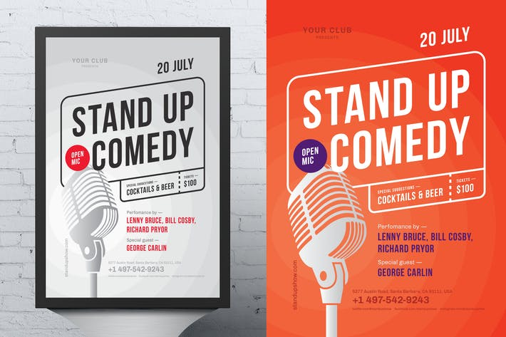 Thumbnail for Standup Poster Template