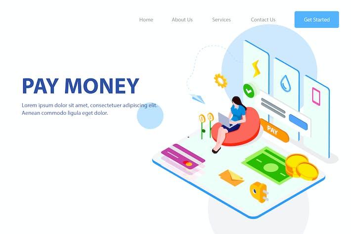 Thumbnail for Pay Money Isometric Illustration - FV