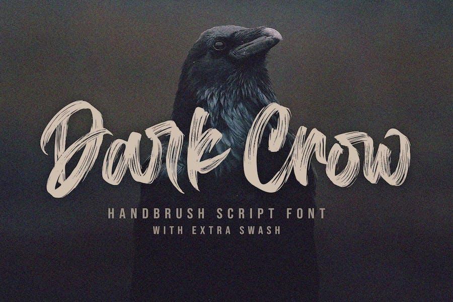 Dark Crow - Strong Brush Font