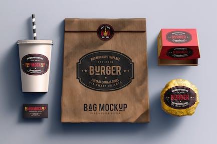 Fast food branding mock-up