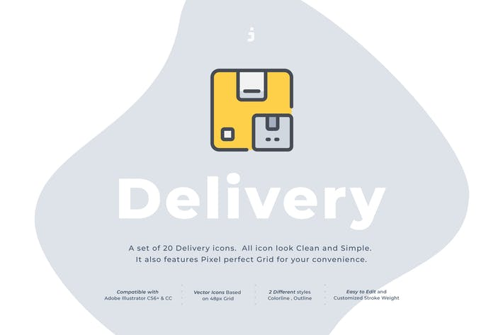 Thumbnail for 20 Delivery Icon set