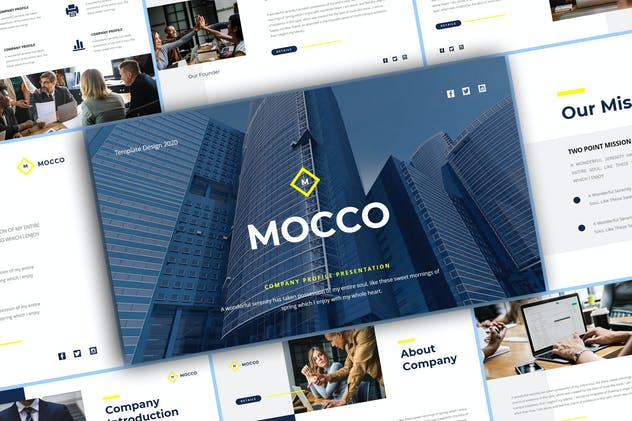 Mocco - Company Profile Keynote Template