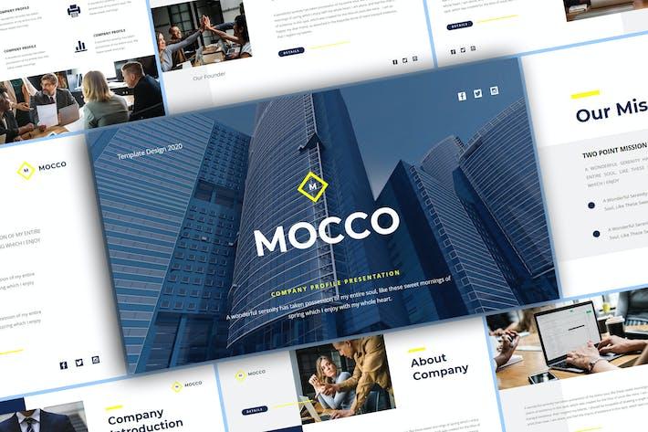Thumbnail for Mocco - Шаблон Keynote профиля компании