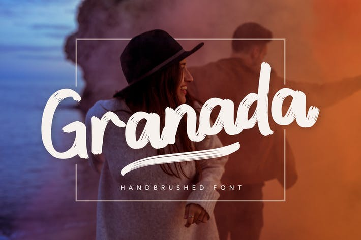 Thumbnail for Granada Hand brushed Font