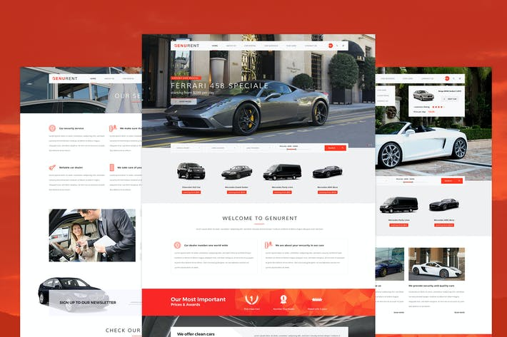 Thumbnail for Genurent - Car Rental Service PSD Template
