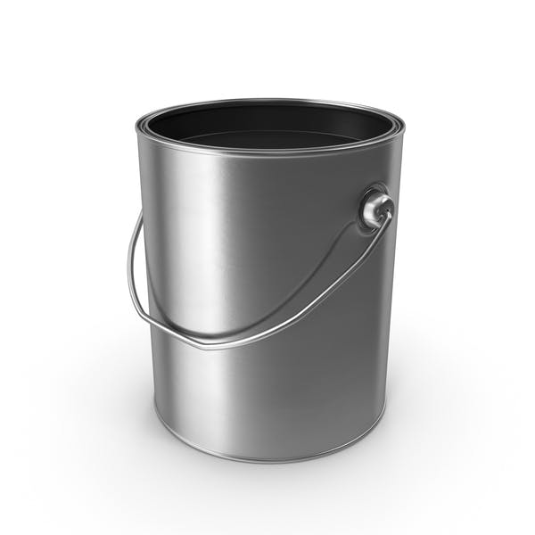 Open Metal Paint Can Black