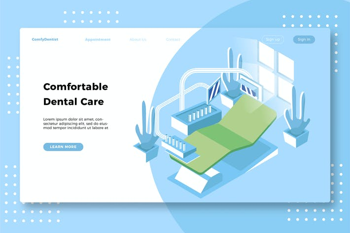 Thumbnail for Dental Care - Banner & Landing Page