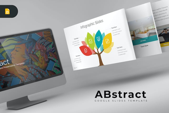 Thumbnail for ABstract - Google Slides Template