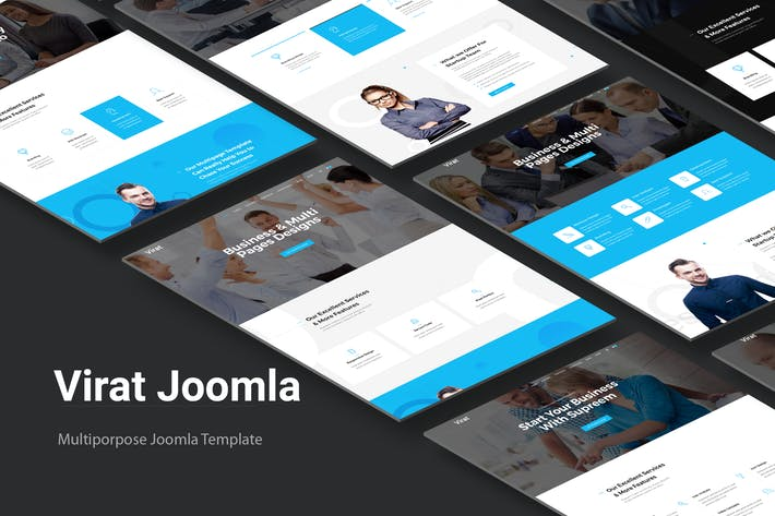 Thumbnail for Virat - Joomla Website Template With Page Builder