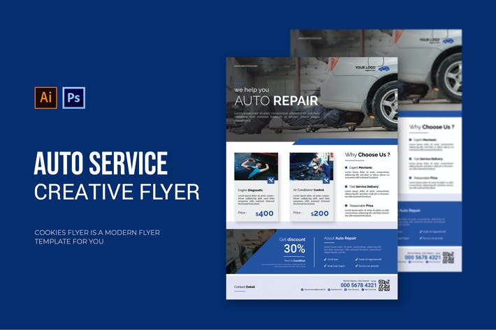 Thumbnail for Auto Services - Flyer