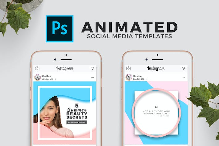 Cover Image For Animated Social Media Templates for Photoshop