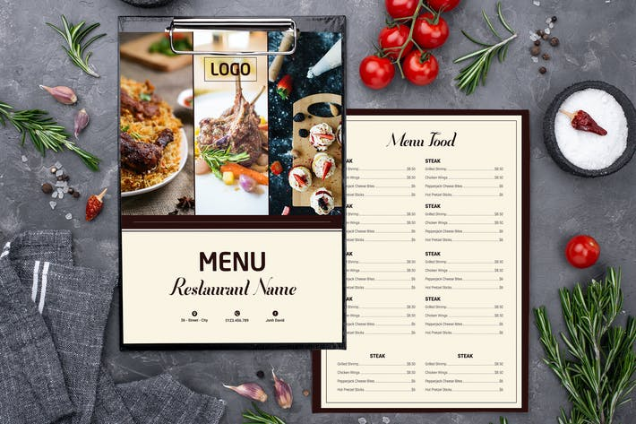 Thumbnail for Menu Restaurant Food Two Sided Menu List Template