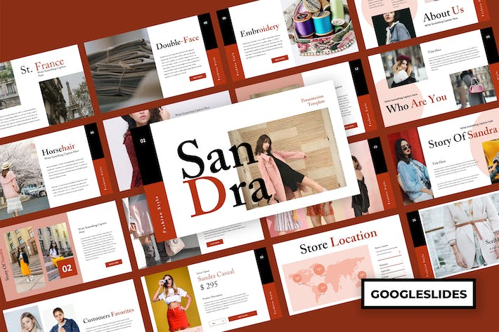 Thumbnail for Sandra - Fashion Google Slides Presentation