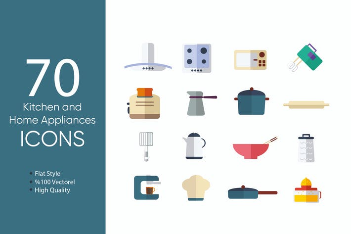 Thumbnail for Kitchen and  Home Appliances Icons
